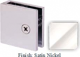 Satin Nickel Mush 662DN-7 Series Wall Mount Transom Clip 2 inch x 2 inch (Traditional Design Square Corners) - MU662D-7_SN