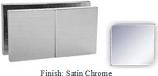 Satin Chrome Mush 662D-8 Series Glass-to-Glass Rotate Transom Clip 2 inch x 4 inch (Traditional Design Square Corners) - MU662D-8_SCR