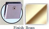 Brass Mush 662DRN Series Wall Mount Clip 2 inch x 2 inch (Contemporary Design Round Corners) - MU662DR_BR