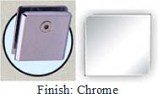 Chrome Mush 662DRN Series Wall Mount Clip 2 inch x 2 inch (Contemporary Design Round Corners) - MU662DR_CR