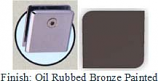 Oil Rubbed Bronze Painted Mush 662DRN Series Wall Mount Clip 2 inch x 2 inch (Contemporary Design Round Corners) - MU662DR_ORB