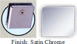 Satin Chrome Mush 662DRN Series Wall Mount Clip 2 inch x 2 inch (Contemporary Design Round Corners) - MU662DR_SCR