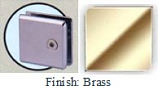 Brass Mush 662DR-7 Series Wall Mount Transom Clip 2 inch x 2 inch (Contemporary Design Round Corners) - MU662DR-7_BR