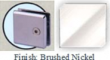 Brushed Nickel Mush 662DR-7 Series Wall Mount Transom Clip 2 inch x 2 inch (Contemporary Design Round Corners) - MU662DR-7_BN