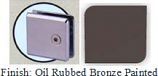 Oil Rubbed Bronze Painted Mush 662DR-7 Series Wall Mount Transom Clip 2 inch x 2 inch (Contemporary Design Round Corners) - MU662DR-7_ORB