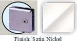 Satin Nickel Mush 662DR-7 Series Wall Mount Transom Clip 2 inch x 2 inch (Contemporary Design Round Corners) - MU662DR-7_SN
