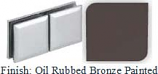 Oil Rubbed Bronze Painted Mush 662DR-8 Series Glass-to-Glass Rotate Transom Clip 2 inch x 4 inch (Contemporary Design Round Corners) - MU662DR-8_ORB