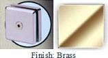 Brass Mush 662ER Series 2 inch Square Seam Clip 2 inch x 2 inch (Contemporary Design Round Corners) - MU662ER_BR