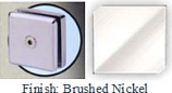 Brushed Nickel Mush 662ER Series 2 inch Square Seam Clip 2 inch x 2 inch (Contemporary Design Round Corners) - MU662ER_BN