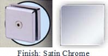 Satin Chrome Mush 662ER Series 2 inch Square Seam Clip 2 inch x 2 inch (Contemporary Design Round Corners) - MU662ER_SCR