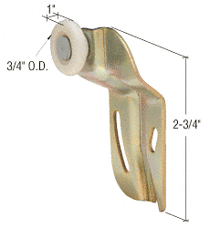 """CRL 3/4"""" Nylon Back Wardrobe Roller for Cox CRL N6509"""
