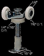 """CRL 7/8"""" Twin Nylon Wardrobe Roller for Acme CRL N6534"""