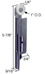 """CRL 1"""" Nylon Left Hand Wardrobe Roller for Like CRL N6556"""