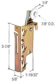 "7/8"" Nylon Wardrobe Door Roller - CRL N6758 Pack of pair (left and right)"