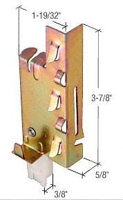 Nylon Wardrobe Door Bottom Guide for Acme Systems - CRL N6759 Pack of 2