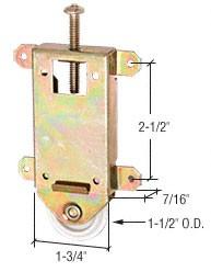 """1-1/2"""" Flat Nylon Mirror Wardrobe Door Roller for Contractors Mirror - CRL N6963"""