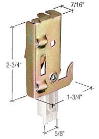 Nylon Wardrobe Door Bottom Guide - CRL N7047 Pack of 2