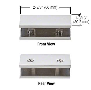 CRL Satin Chrome No-Drill Fixed Panel Glass Clamp CRL NDC4SC