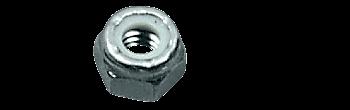 "CRL Zinc 1/4""-20 Thread Nylock Hex Nut CRL NLN1420Z"