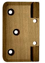 CRL Antique Brass Pinnacle Series Wall Mount Offset Back Plate CRL P044ABR
