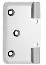 CRL Satin Chrome Pinnacle Series Wall Mount Offset Back Plate CRL P044SC