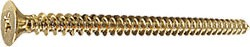 "Polished Brass #10 x 3"" Wall Mounting Flat Head Phillips Sheet Metal Screw - CRL P103BR Pack of 10"