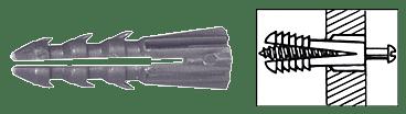 "CRL 3/16"" Plastic Screw Anchor Without Shoulder - 100 Each CRL P1319C"