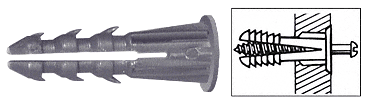 "CRL 3/16"" Plastic Screw Anchor with Shoulder - 100 Each CRL P1329C"