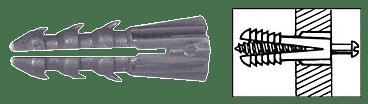 "CRL 1/4"" Plastic Screw Anchor Without Shoulder - 100 Each CRL P1349C"