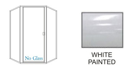 P1500-P135-L Series Standard Heavy Duty Semi-Frameless Swing-out Shower Doors KD Size 36 inch wide x 80 inch high with 135 degrees Return Panels Size 36 inch wide x Overall height 80 inch high, Hinged on Left