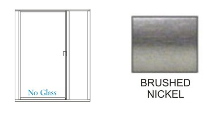 P1500-P180-L Series Standard Heavy Duty Semi-Frameless Swing-out Shower Doors KD 36 inch wide with In-Line Panel Overall Size up to 48 inch wide x 80 inch high, Hinged on Left