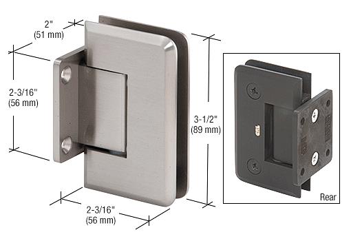 CRL Brushed Nickel Pinnacle Series 5 Degree Wall Mount Short Back Plate Hinge CRL P1N574BN