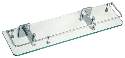 "CRL Chrome Pinnacle Series 18"" Glass Shelf CRL P1N812CH"