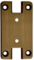 CRL Antique Brass Pinnacle Series Wall Mount Full Back Plate CRL P3ABR
