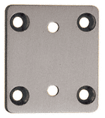 CRL Brushed Nickel Pinnacle Series Wall Mount Short Back Plate CRL P3SBYBN