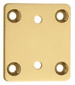 CRL Brass Pinnacle Series Wall Mount Short Back Plate CRL P3SBYBR