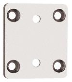 CRL Satin Chrome Pinnacle Series Wall Mount Short Back Plate CRL P3SBYSC