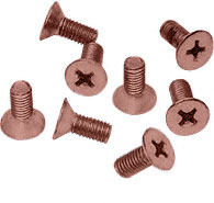 Brushed Copper Phillips 6 mm x 12 mm Cover Plate Flat Head Screws - CRL P612BCO Pack of 8