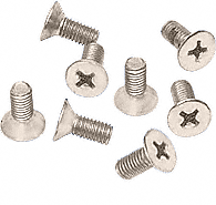 CRL Satin Nickel 6 x 12 mm Cover Plate Flat Head Phillips Screws CRL P612SN