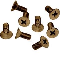 CRL Antique Brass 6 x 15 mm Cover Plate Flat Head Phillips Screws CRL P615ABR