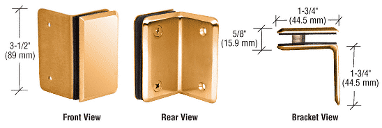 CRL Gold Plated Petite Series Wall Mount Bracket CRL PE90SGP