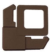 "CRL Bronze 7/16"" Square Cut with Lift Tab Plastic Screen Frame Corner CRL PL3BRZ"