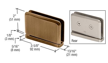 CRL Antique Brass Prima #1 Pin 01 Series Top or Bottom Mount Hinge CRL PPH0151ABR