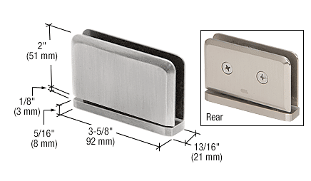 CRL Brushed Satin Chrome Prima #1 Pin 01 Series Top or Bottom Mount Hinge CRL PPH0151BSC