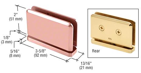 CRL Polished Copper Prima 01 Series Top or Bottom Mount Hinge CRL PPH01PC0