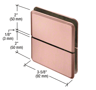 CRL Brushed Copper Prima 02 Series Glass-To-Glass Mount Hinge CRL PPH02BC0