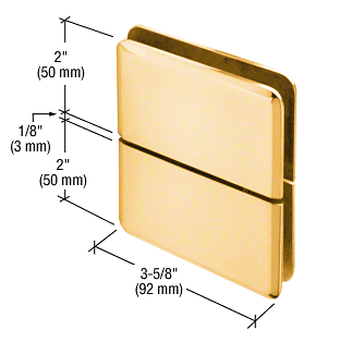 CRL Gold Plated Prima 02 Series Glass-To-Glass Mount Hinge CRL PPH02GP