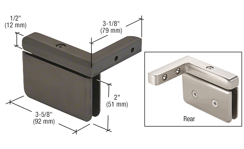 CRL Oil Rubbed Bronze Prima 05 Series Right Hand Offset Mount Hinge CRL PPH05R0RB