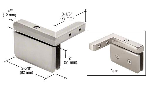 CRL Brushed Nickel Prima 05 Series Right Hand Offset Mount Hinge CRL PPH05RBN