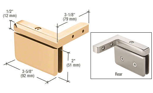 CRL Gold Plated Prima 05 Series Right Hand Offset Mount Hinge CRL PPH05RGP